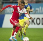 Juan Agudelo of FC Utrecht during the Dutch Eredivisie match between FC Utrecht and sc Cambuur at the Galgenwaard Stadium on April 2, 2014 in Utrecht, The Netherlands.(Photo by VI Images via Getty Images)