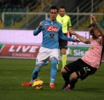 Napoli's forward Josè Callejon in action during the Italian Serie A soccer match between US Palermo and SSC Napoli at Renzo Barbera Stadium in Palermo, 14 February 2015. ANSA/ LANNINO