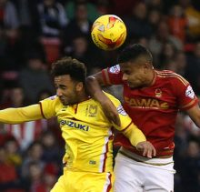 IN PICTURE: Michael Mancienne. STORY: SPORT LEAD: Nottingham Forest v MK Dons.  Sky Bet Championship match at the City Ground, Nottingham.  Saturday 19th December 2015. PHOTOGRAPHER: MARK FEAR